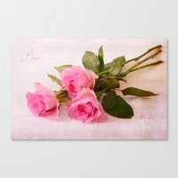 roses Canvas Prints featuring Roses by Fine Art by Rina