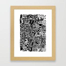 Antuan Rene Chaos style 1, Cuban chaotic art, Graphic Absurd, disorder Framed Art Print