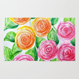 lollipop roses Rug
