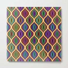Colorful 3d geometric pattern Metal Print