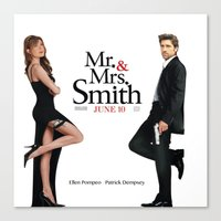 greys anatomy Canvas Prints featuring Mrs & Mrs Smith- Greys Anatomy style  by QueenOfAwesome95