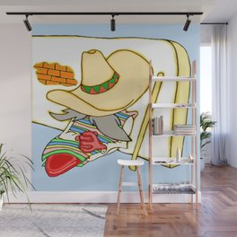 Siesta Jalapeno wit a stick Wall Mural