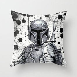 Boba Fett: Bounty Hunter Throw Pillow