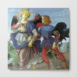 "Workshop of Andrea del Verrocchio ""Tobias and the Angel"" Metal Print"