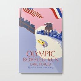 Lake Placid Olympic bobsled run Metal Print