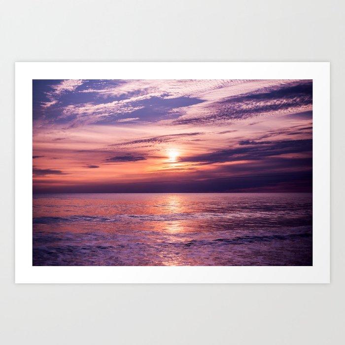 A Moving Sea Between The Shores Art Print