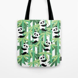 Panda's society Tote Bag