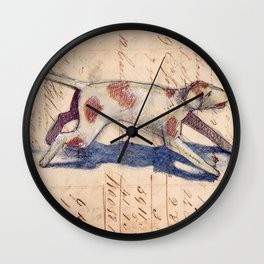 Metal Dog from France Wall Clock