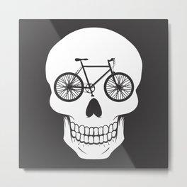 Bikehead Metal Print