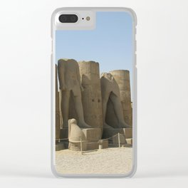Temple of Luxor, no. 5 Clear iPhone Case