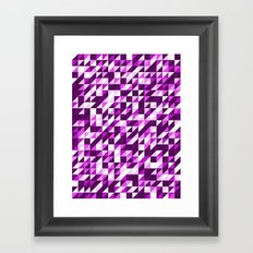 Purple Patchwork Framed Art Print