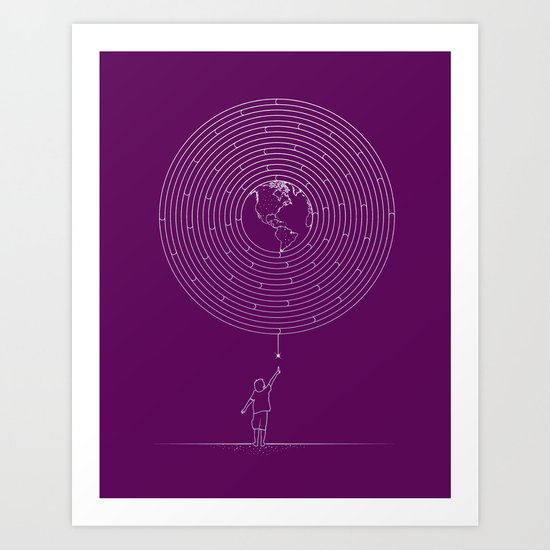I Dream To Explore The World Art Print