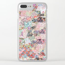Tucson map flowers Clear iPhone Case