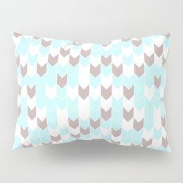 Modern aqua blush pink brown geometrical chevron Pillow Sham