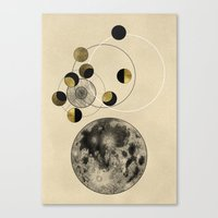 the moon Canvas Prints featuring Moon by J Arell