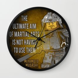 Samurai Musashi, ultimate aim martial arts Wall Clock