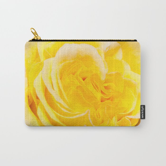 A Touch of Yellow #Rose #1 #art #society6 Carry-All Pouch