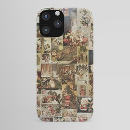 Merry Christmas - Santa angels & friends - collage iPhone Case