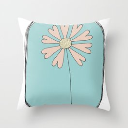 Flowers Have Hearts Throw Pillow