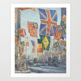 Avenue of the Allies, Great Britain, 1918 by Childe Hassam Art Print