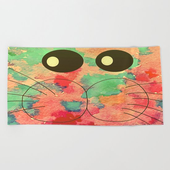 cat-944 Beach Towel