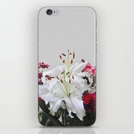 Floral Lilies Daisies iPhone Skin