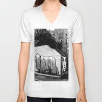 manchester V-neck T-shirts featuring Manchester by Marcus Leoni