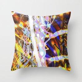 Light Dance - Rainbow Light Painting Throw Pillow