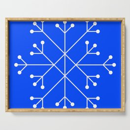Mod Snowflake Blue Serving Tray