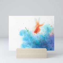 watercolour goldfish 3 Mini Art Print