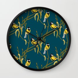 view in the garden Wall Clock