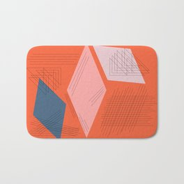 Mid Century Mod in Orange Bath Mat