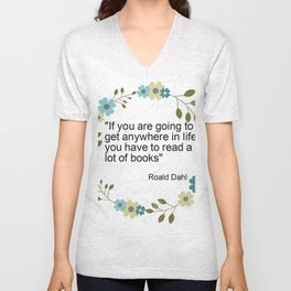 a book quote Unisex V-Neck
