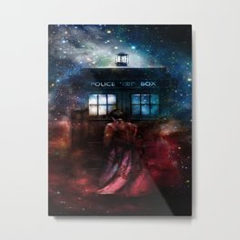 Doctor Who Tardis In Space Metal Print