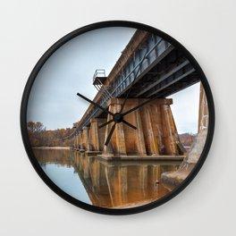 Rustic Leesylvania Bridge Wall Clock