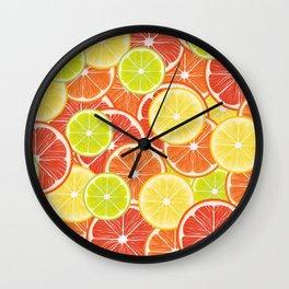 Citruses Wall Clock