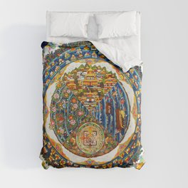 Tibetan Shambala Mandala 33 Duvet Cover