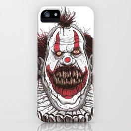Killer Clown (Pen & Ink) iPhone Case