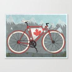 Love Bike, Love Canada Canvas Print