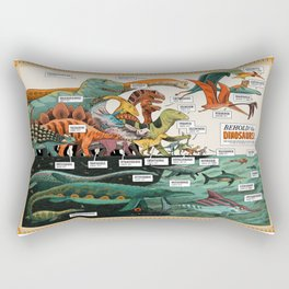 BEHOLD! THE DINOSAURS!  Rectangular Pillow