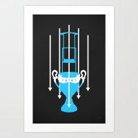 Aeropress Championship – Blue Art Print