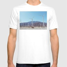 Palm Springs Windmills XI White MEDIUM Mens Fitted Tee
