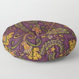 Floral Paisley Pattern 06 Floor Pillow