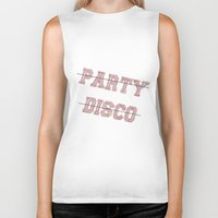 talking heads Biker Tanks featuring Talking Heads - No Party, No Disco by Taylor Starnes