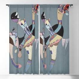 A Floating Figure - Wassily Kandinsky Blackout Curtain