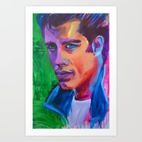 grease Art Prints featuring Grease by Alejandro Castanon