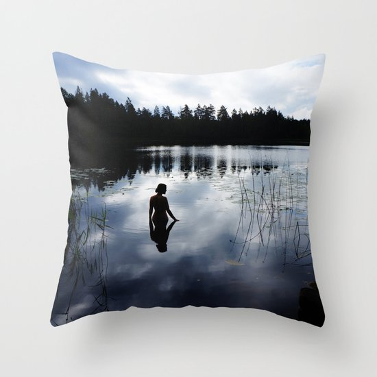 Reflecting Beauty Throw Pillow