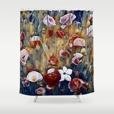 Poppies and Such Shower Curtain