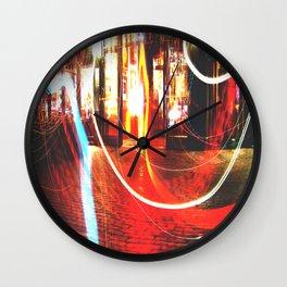 Bos ton at Night Wall Clock