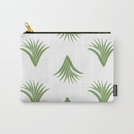 Pandanus Leaf Pattern - Green Carry-All Pouch